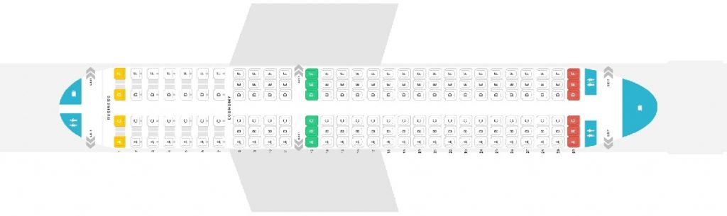 Seat Map and Seating Chart Airbus A320 200 Austrian Airlines