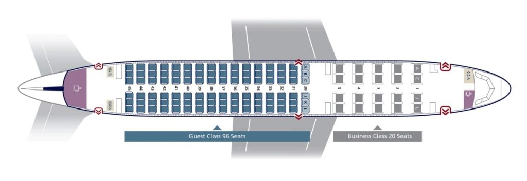 Seat Map and Seating Chart Airbus A320 200 Business Configuration 32E Saudia