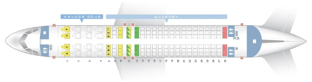 Seat Map and Seating Chart Airbus A320 200 Gulf Air