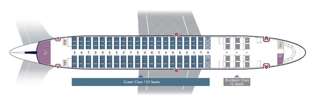 Seat Map and Seating Chart Airbus A320 200 Standard Configuration Saudia
