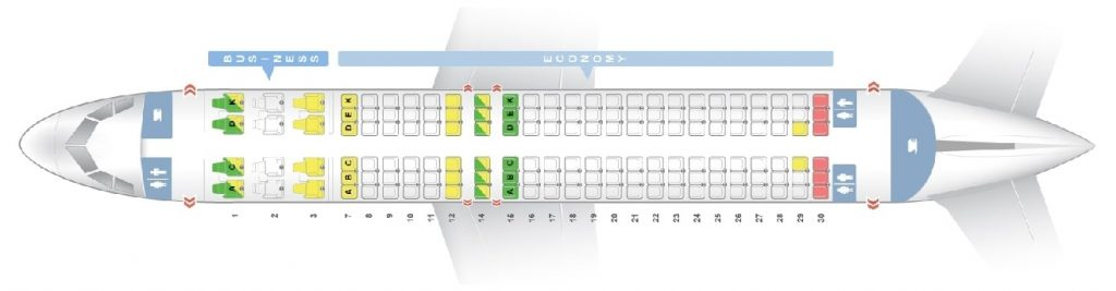 Seat Map and Seating Chart Airbus A320 200 ceo neo Avianca