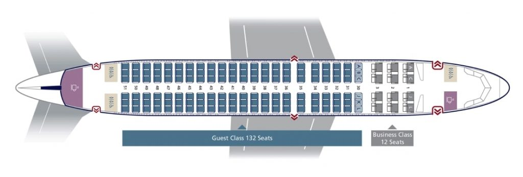 Seat Map and Seating Chart Airbus A320CEO 32N Saudia