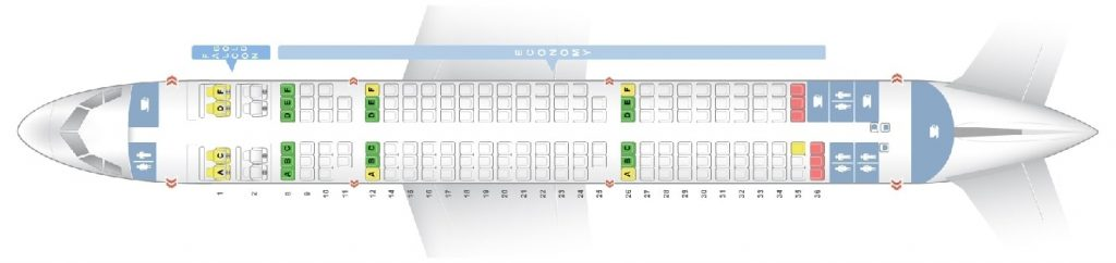 Seat Map and Seating Chart Airbus A321 200 Gulf Air