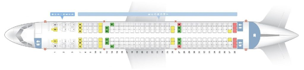 Seat Map and Seating Chart Airbus A321 200 ceo neo Avianca