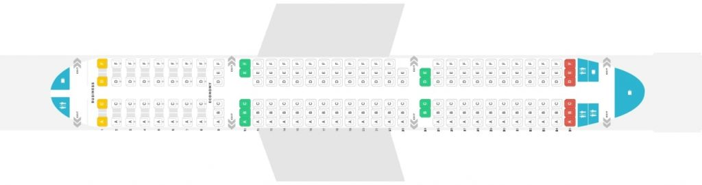 Seat Map and Seating Chart Airbus A321 Austrian Airlines