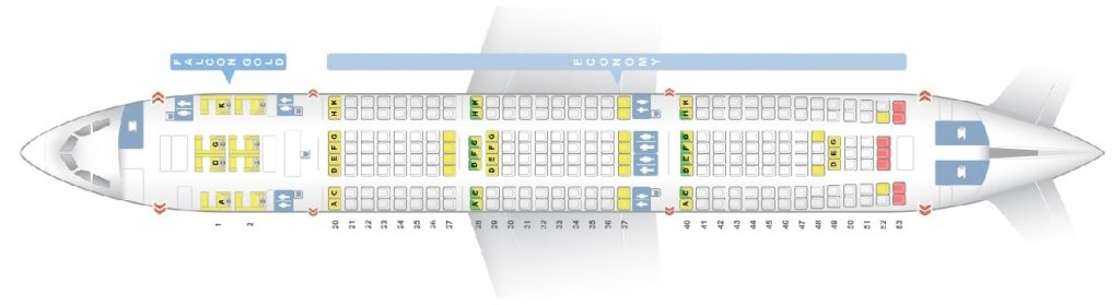 Seat Map and Seating Chart Airbus A330 200 Layout 2 Gulf Air