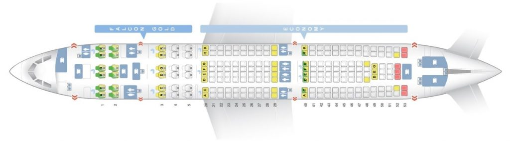 Seat Map and Seating Chart Airbus A330 200 layout 1 Gulf Air