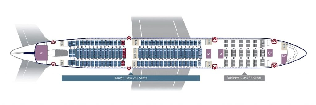 Seat Map and Seating Chart Airbus A330 300 Saudia 288 Seats Layout