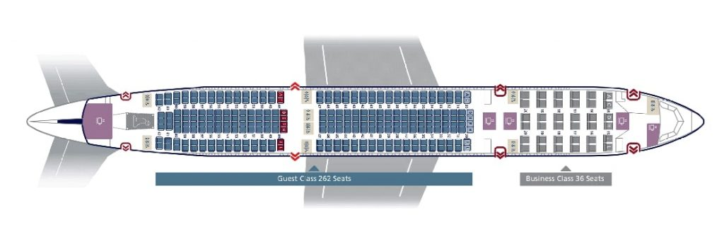 Seat Map and Seating Chart Airbus A330 300 Saudia 298 Seats Layout