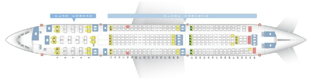 Seat Map and Seating Chart Airbus A340 300 Aerolineas Argentinas