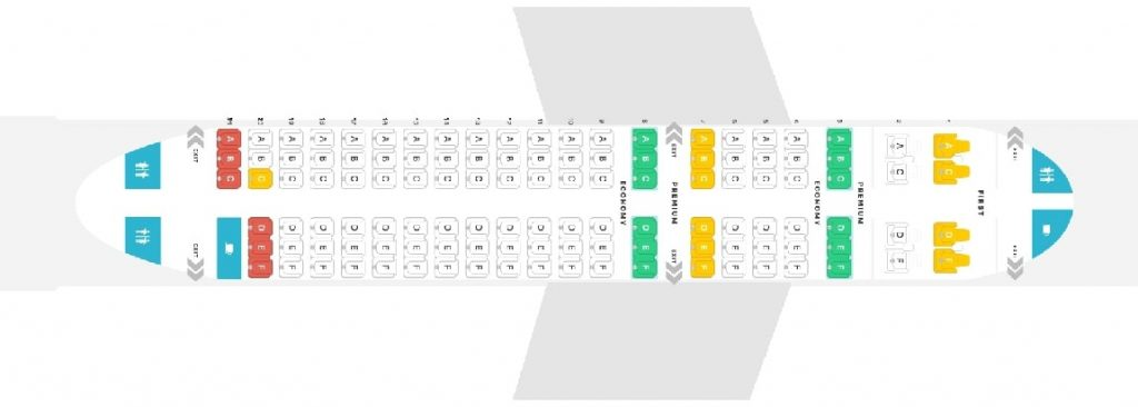 Seat Map and Seating Chart Alaska Airlines Airbus A319 100 Layout 119 Seats