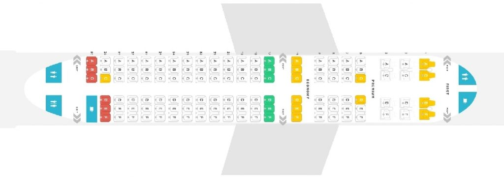Seat Map and Seating Chart Alaska Airlines Airbus A319 100 Layout 123 Seats