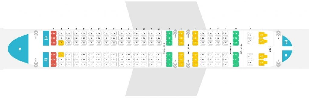Seat Map and Seating Chart Alaska Airlines Airbus A320 200 Layout 146 Seats