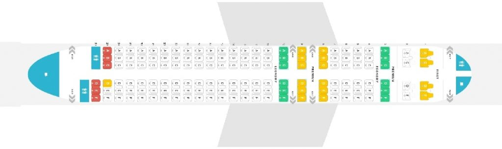 Seat Map and Seating Chart Alaska Airlines Airbus A320 200 Layout 149 Seats