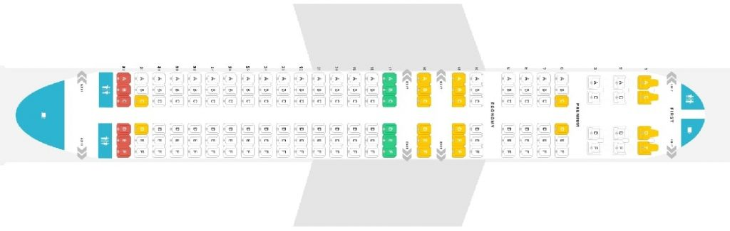 Seat Map and Seating Chart Alaska Airlines Airbus A320 200 Layout 150 Seats