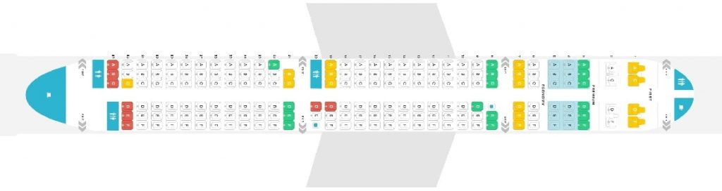 Seat Map and Seating Chart Alaska Airlines Airbus A321neo 185 Seats
