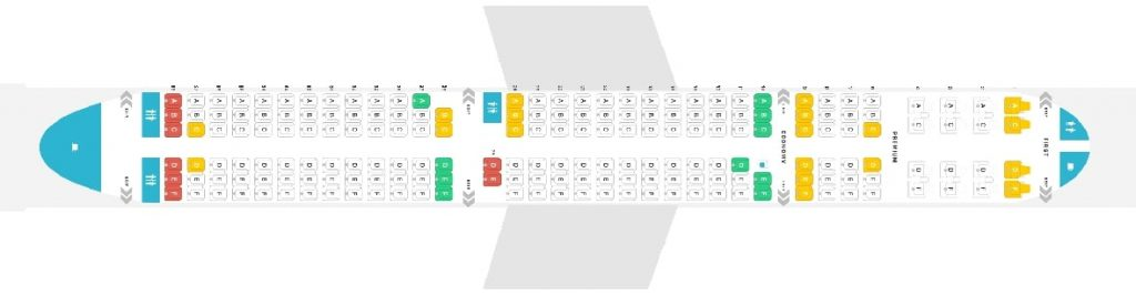 Seat Map and Seating Chart Alaska Airlines Airbus A321neo 190 Seats