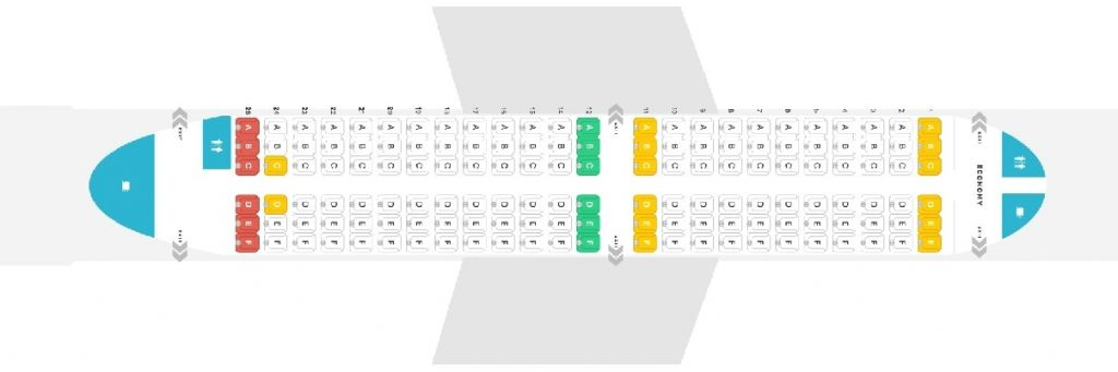 Seat Map and Seating Chart Boeing 737 300 airBaltic