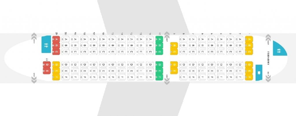 Seat Map and Seating Chart Boeing 737 500 airBaltic