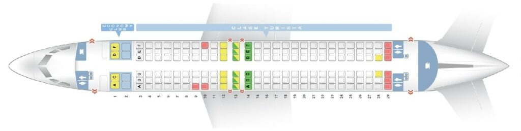 Seat Map and Seating Chart Boeing 737 800 Aerolineas Argentinas