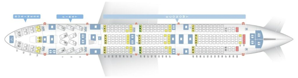 Seat Map and Seating Chart Boeing 747 400 Main Deck Air China