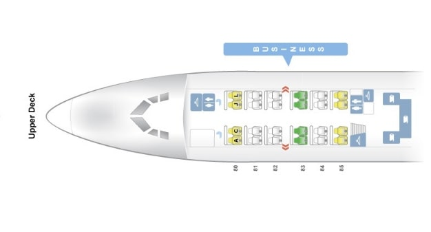 Seat Map and Seating Chart Boeing 747 400 Upper Deck Air China