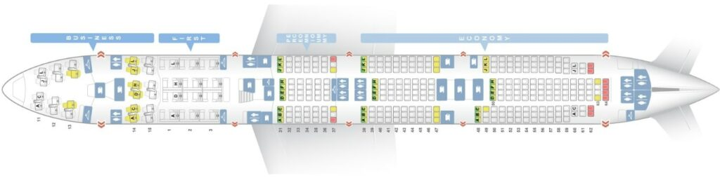 Seat Map and Seating Chart Boeing 747 8i Main Deck Air China
