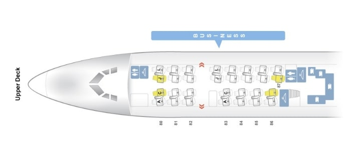 Seat Map and Seating Chart Boeing 747 8i Upper Deck Air China