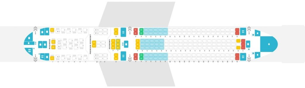 Seat Map and Seating Chart Boeing 767 300ER Austrian Airlines