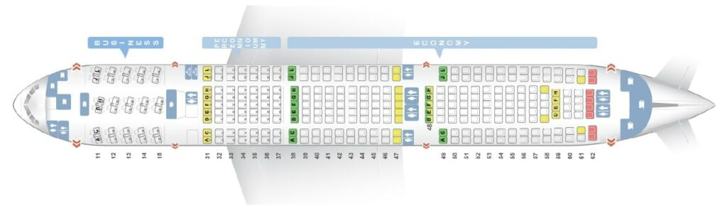 Seat Map and Seating Chart Boeing 777 200 Air China