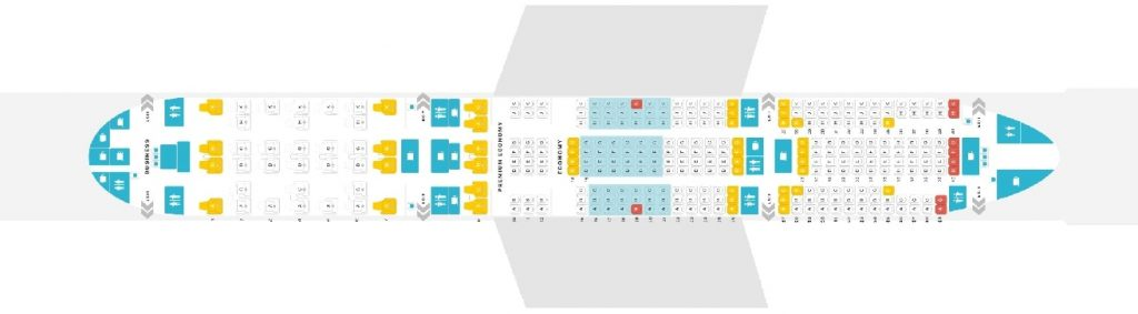 Seat Map and Seating Chart Boeing 777 200ER Austrian Airlines