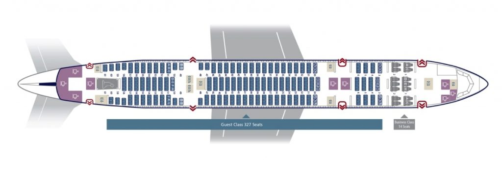 Seat Map and Seating Chart Boeing 777 200ER Saudia