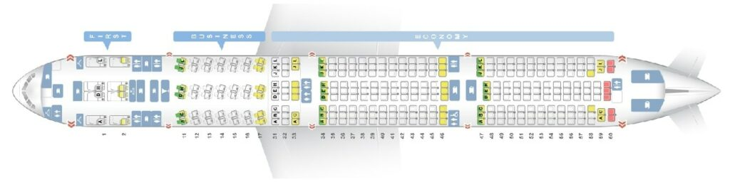 Seat Map and Seating Chart Boeing 777 300ER Air China