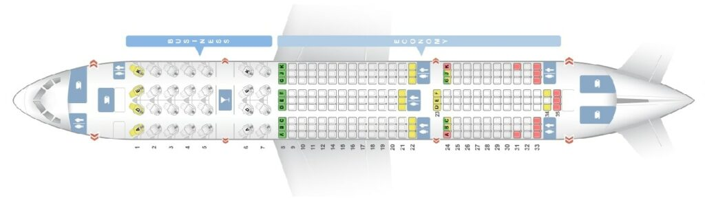 Seat Map and Seating Chart Boeing 787 8 Dreamliner Avianca