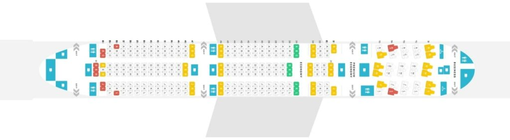 Seat Map and Seating Chart Boeing 787 9 Dreamliner Air China