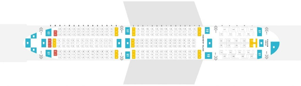 Seat Map and Seating Chart Boeing 787 9 Dreamliner Gulf Air