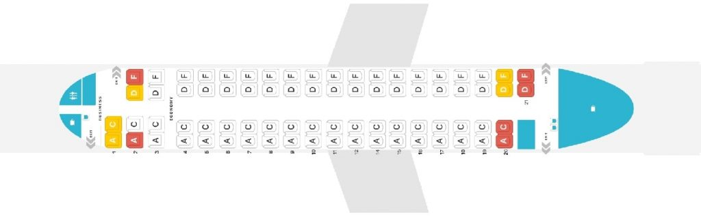 Seat Map and Seating Chart Bombardier Dash 8 Q400 Austrian Airlines