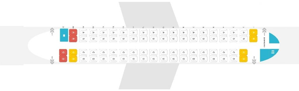 Seat Map and Seating Chart Bombardier Dash 8 Q400 NextGen airBaltic