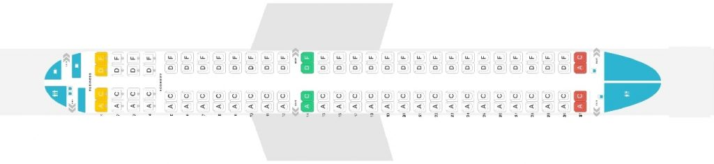 Seat Map and Seating Chart Embraer 195 Austrian Airlines