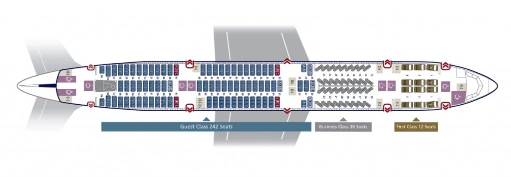 Seat Map and Seating Chart Saudia Boeing 777 300ER 290 Seats 77Z