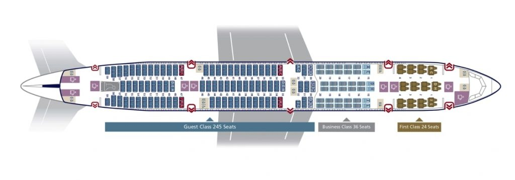 Seat Map and Seating Chart Saudia Boeing 777 300ER 305 Seats 77W