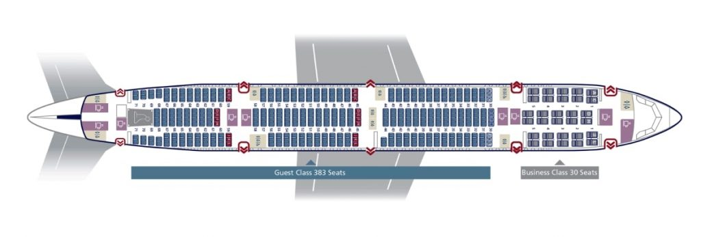 Seat Map and Seating Chart Saudia Boeing 777 300ER 413 Seats 773 and 77A