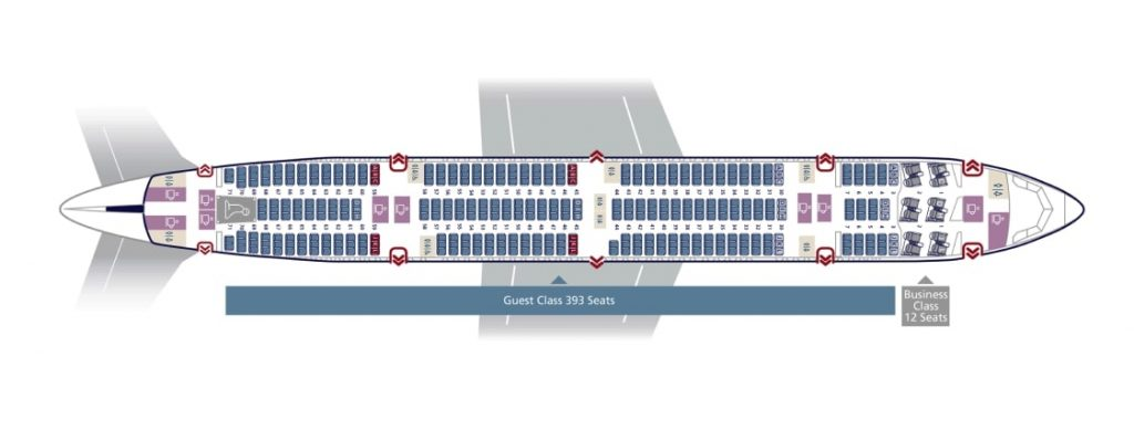 Seat Map and Seating Chart Saudia Boeing 777 300ER 413 Seats 77D