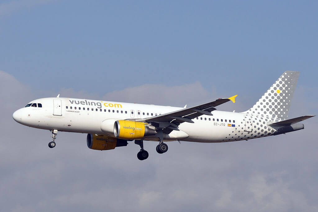 Vueling Airlines Airbus A320 214 EC JTQ at Barcelona Airport