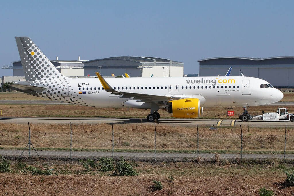 Vueling Airlines Airbus A320 271N EC NAF at Toulouse Blagnac Airport