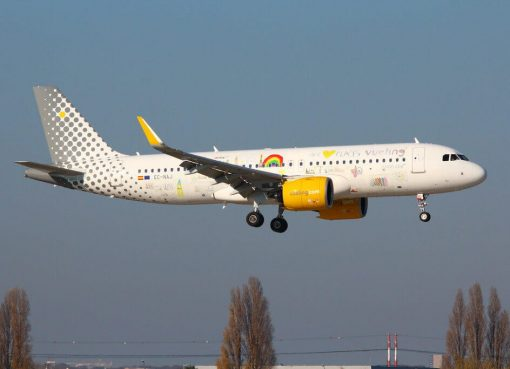 Vueling Airlines Airbus A320 271N EC NAJ We Love Places Livery at Paris Orly Airport