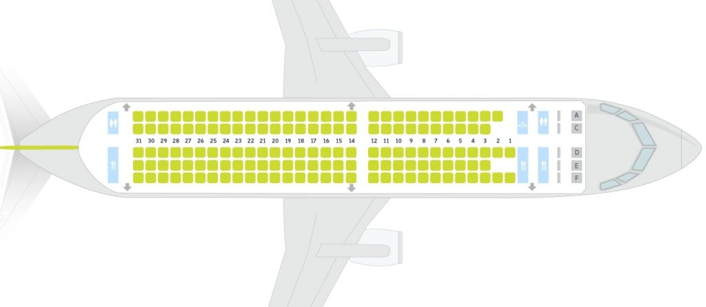airBaltic Airbus A220 300 CS300 Seating Plan