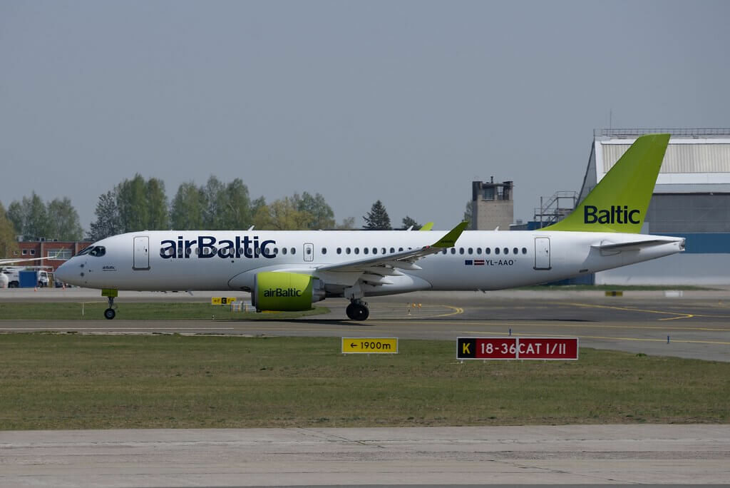 airBaltic Airbus A220 300 CS300 YL AAO