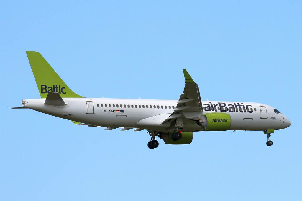 airBaltic Airbus A220 300 CS300 YL AAP