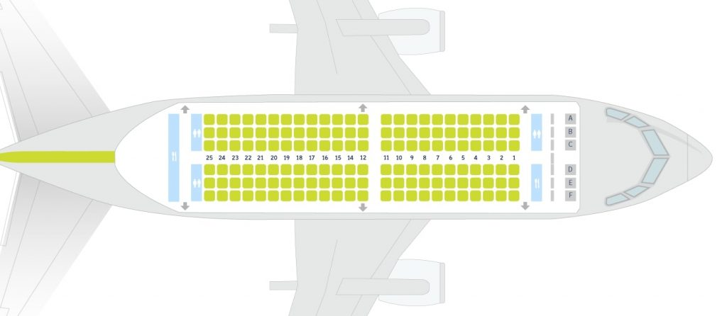 airBaltic Boeing 737 300 Seating Plan 144 Seats